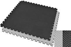 Tatami Puzzle 2 cm, Noir/Gris, Motif en T (Polyvalent)
