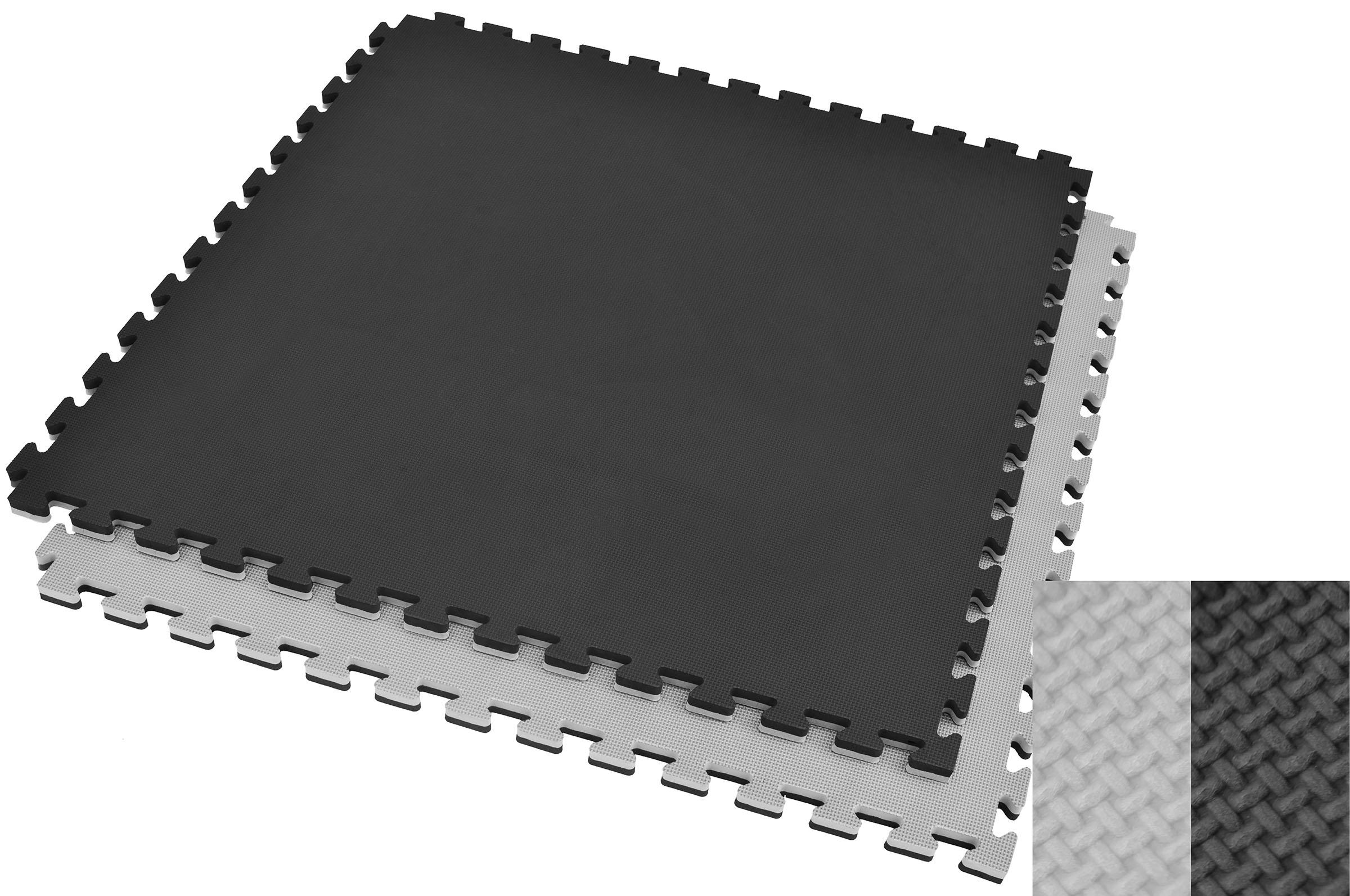 Tatami Puzzle, 2cm, Noir/Gris