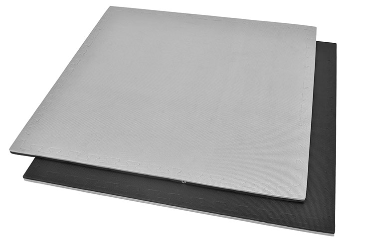 Puzzle Mat, 2cm, Black/Grey, T pattern, Multipurpose