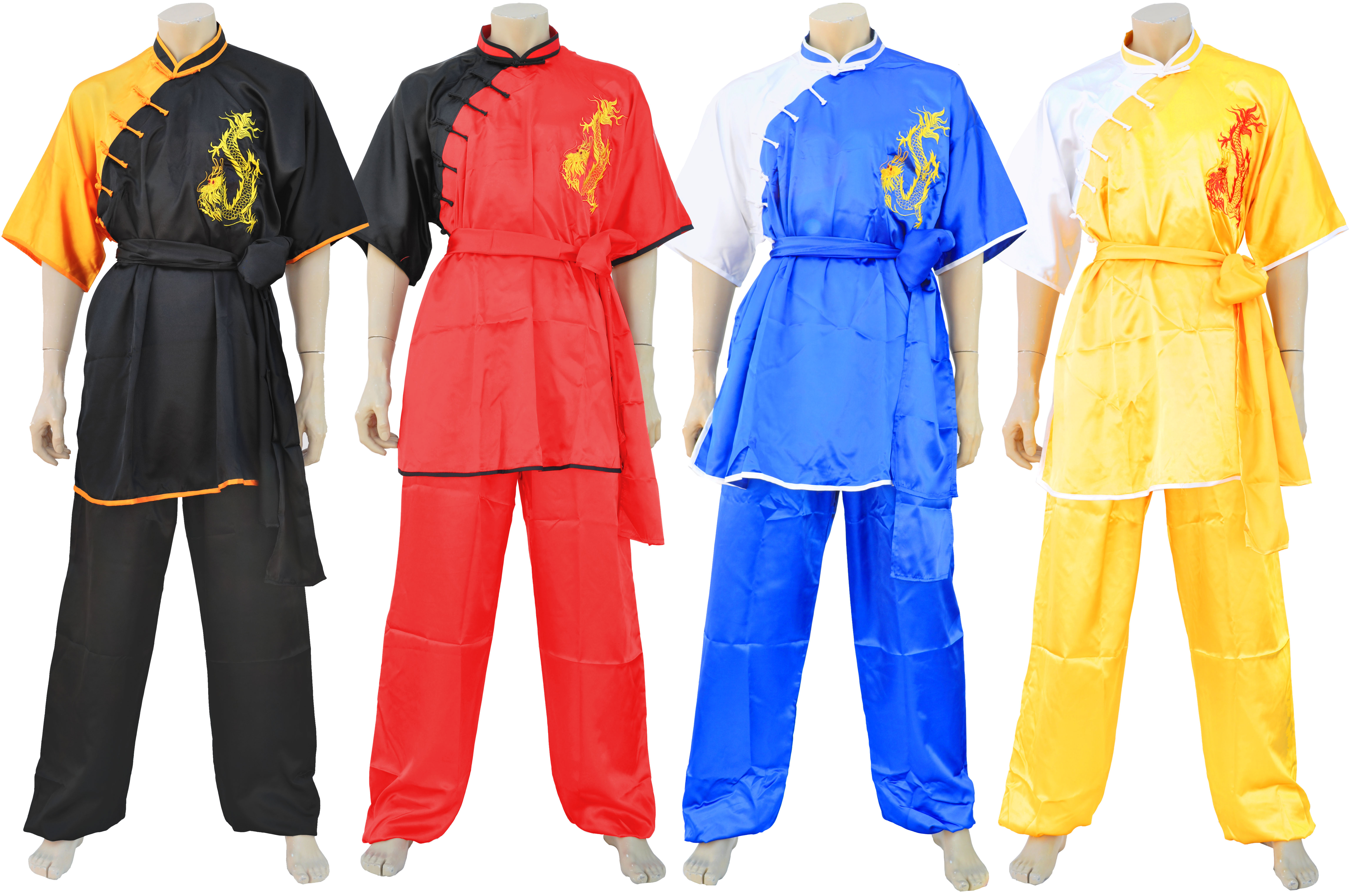 Sporting Goods Other Combat Sport Supplies Uniforme Kimono Kung Fu Chang Quan Shan Xi Amarillo Drago Bordado
