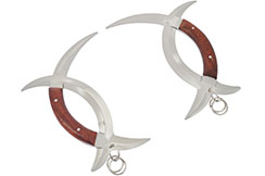 Bagua Zhang Crescent Moon Knives (Shuang Yue) - With Rings