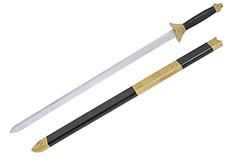 Epée en bois avec fourreau, Monobloc & Légère