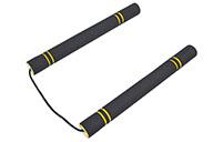 Nunchaku mousse corde, noir et jaune, léger