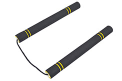 Nunchaku for kids, Foam & Rope - Black/yellow - Latest design