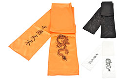 [destock] Ceinture Kungfu Dragon Brodée, Imitation Soie