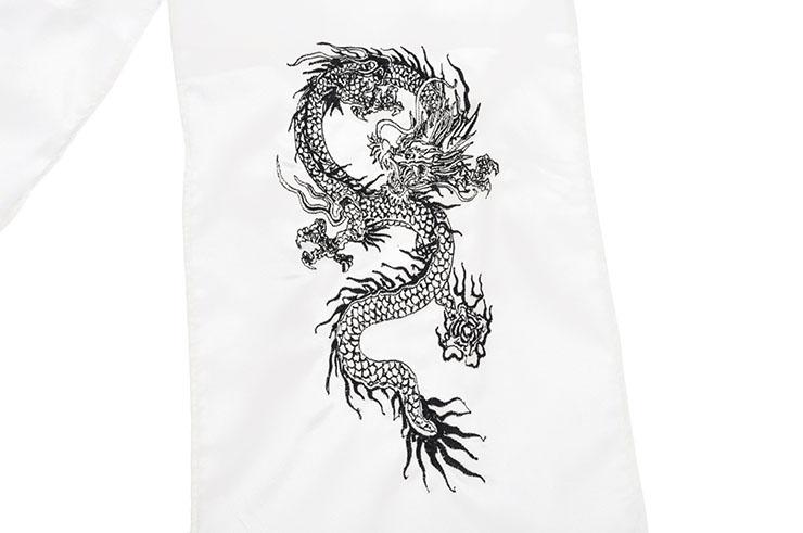 [Destock] Embroidered Dragon Kungfu Belt, Silk Imitation