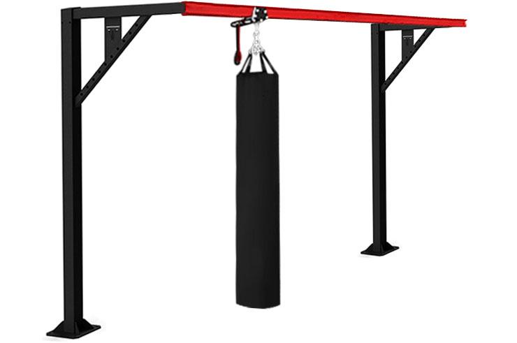 Punch bag sliding rail on bracket