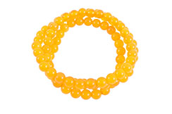 Buddhist Bracelet, Three Wraps - Agata Stone 6 mm