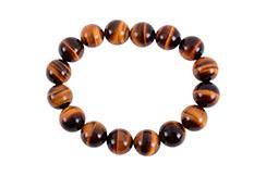 Bracelet Haut de Gamme, Oeil du Tigre - Perles 12 mm