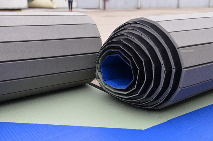 Tatami Déroulable - Revêtement PVC, motif Paille de Riz