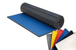 Tatami Enroulable - Revêtement PVC Lisse, motif Cuir