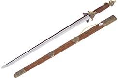 Double Epée Rigide (Haut de Gamme), Inox, Jian Wang