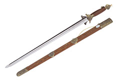 Double Straightsword, Rigid, Stainless Steel (Upper Range), Jian Wang