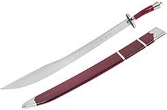 Sable Entrenamiento Kungfu, con vaina Rojo/Plata- Flexible