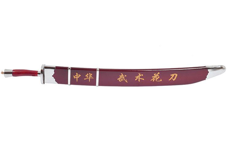 Sabre Entraînement Kungfu, Rouge/Argent, Flex