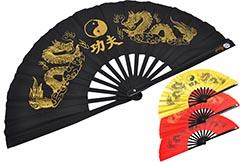 Éventail Tai Chi (Tai Ji Shan) Bambou - Double Dragon