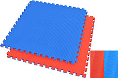 Puzzle Mat 2.5cm, Blue/Red, Rice Straw pattern (Grappling)