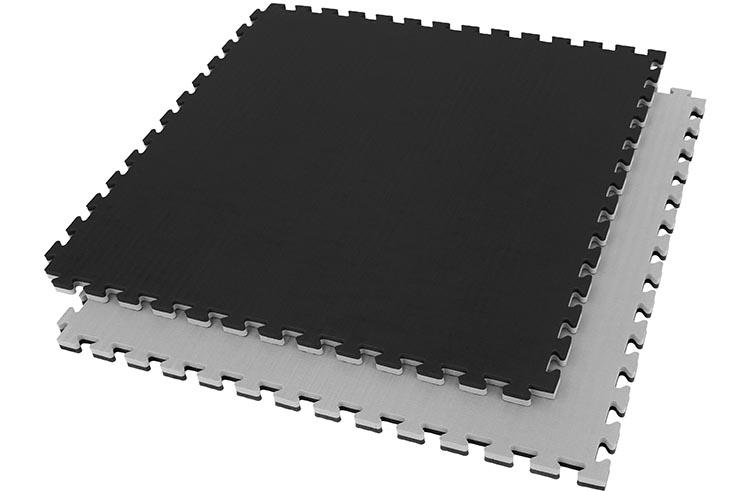 Tatami Rompecabeza 2,5 cm, Azul/Rojo, Paja de Arroz (Grappling)
