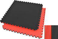 Puzzle Mat, 4cm, Black/Red, Rice Straw pattern, Grappling Workout