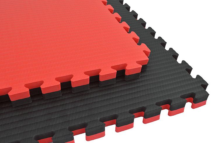 Tatami Rompecabeza 4cm, Negro/Rojo, Paja de Arroz (Grappling)