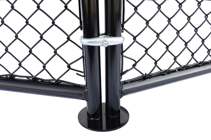 Octagonal MMA cage, no floor