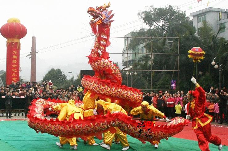 Traje de Dragón, Rojo y Dorado, 7 personas