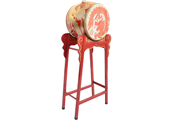 Traditional Drum, Vertical, on Stand, Small