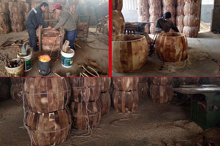 Tambor Tradicional, Vertical, En Soporte, Pequeño