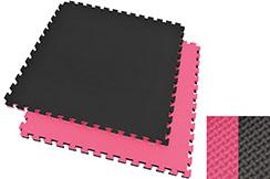 Puzzle Mat, 4cm, Black/Pink, T pattern, Multipurpose