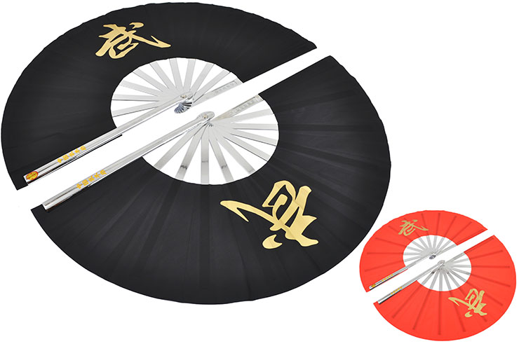 Double Tai Chi Fan, Stainless Steel (Upper Range)