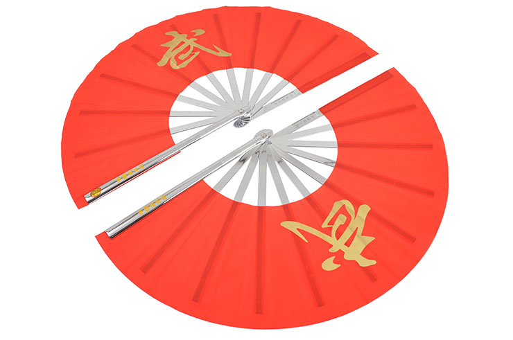 Double Tai Chi Fan, Stainless Steel & PVC
