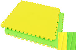 Puzzle Mat, 4cm, Green/Yellow, Mat pattern