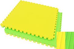 Puzzle Mat, 4cm, Green/Yellow, Mat pattern