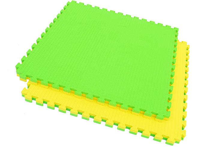 Tatami Puzzle, 4cm, Jaune/Vert, Motif Tatami