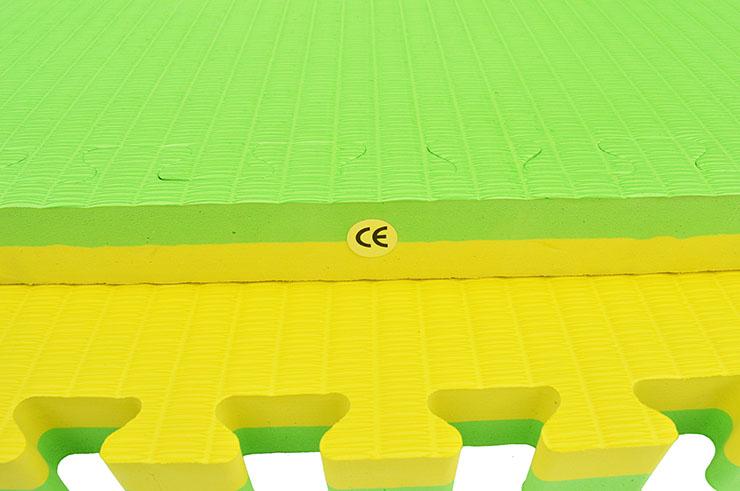 Tatami Rompecabezas Amarillo/Verde, 4cm