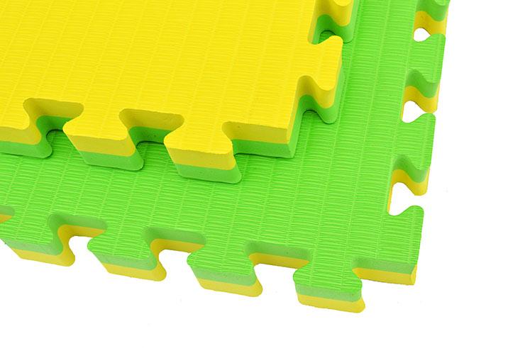Tatami Puzzle 4 cm, Jaune/Vert, Motif Paille de Riz (travail au sol)