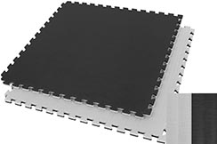 Puzzle Mat 2.5cm, Black/Grey, Rice Straw pattern (Grappling)