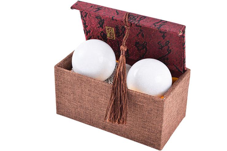 Gi Qong balls, White Marble