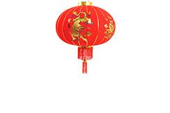 Lanterne chinoise Dragon & Phoenix 43cm