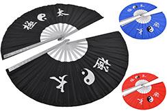 Double Tai Chi Fan, Yin Yang - Aluminum