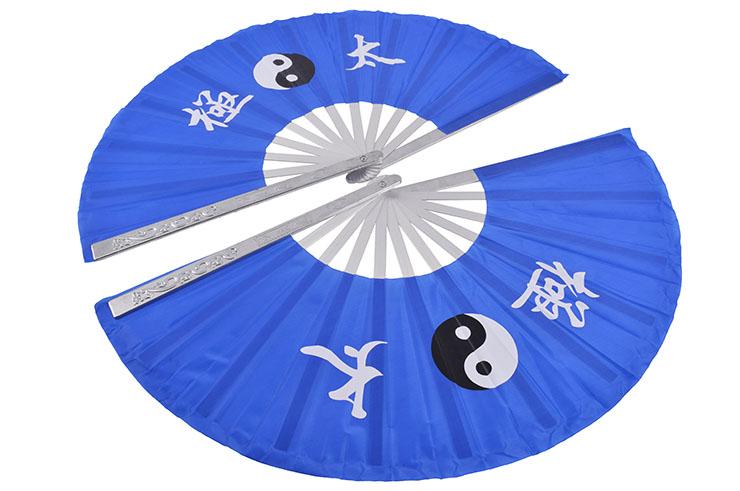 Double Éventail Tai Chi, Yin Yang - Aluminium