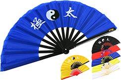 Abánico Tai Chi (Tai Ji Shan) Bambú, Yin-Yang