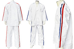 Karate Contact Kimono, Tricolours stripes