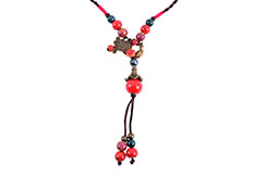 Chinise Necklace, Hand braided - Phoenix