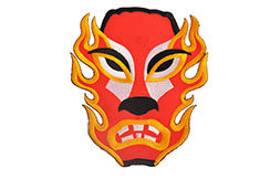 Wrestling mask badge