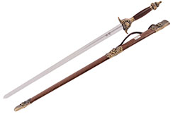 Tai Ji, Tai Chi «Zhen Zhai» Straightsword, Diamond Cross Section, Semi Flexible