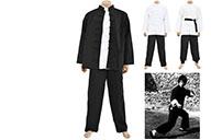 Tenue Bruce Lee Traditionnelle JingWuMen - Coton épais