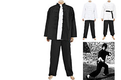 Tenue Bruce Lee Traditionnelle JingWuMen - Coton épais