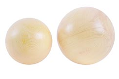 Solid Wooden TaiJi Ball, Unvarnished