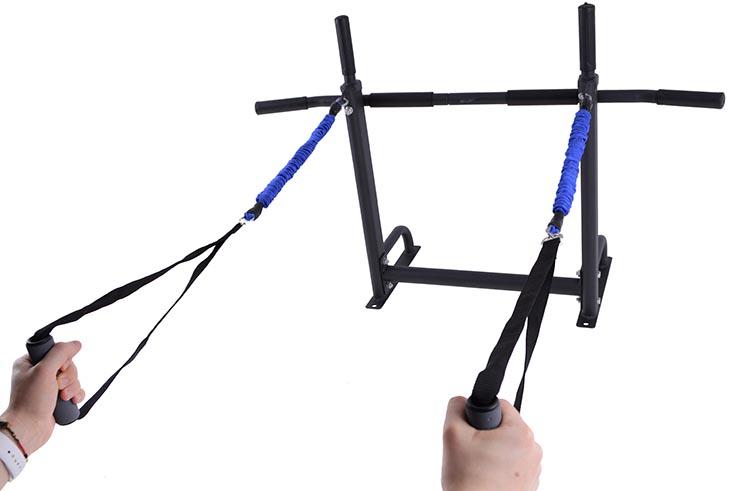 Barra de flexiones y soporte para saco de golpeo - NineStars